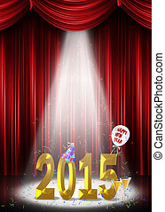 new year 2015 in the spotlight