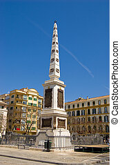 Obelisk in Malaga - Obelisk on place de la Merced in Malaga,...