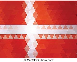 Denmark flag of vector