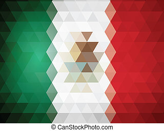 abstract Flag Of Mexico