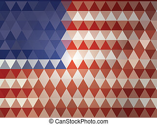 abstract  american flag - abstract american flag