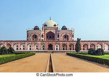 Humayun's Tomb in Delhi - Humayun Tomb in Delhi, India. The...
