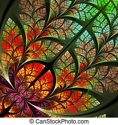 Multicolor fabulous fractal pattern. Collection - tree...