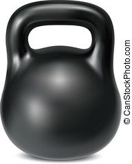 Kettlebell weight isolated. Illustration