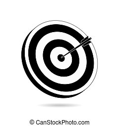 Target and arrow illustration