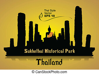 thailand travel design vector