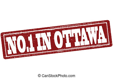 No one in Ottawa - Stamp with text no one in Ottawa inside,...