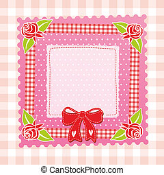 baby decoration - folksy background as frame or decoration...