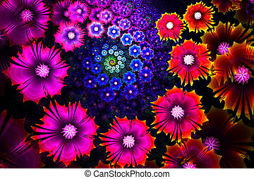 Flower background. Computer generated graphics.