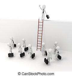 3d man businessman leader, business metaphor