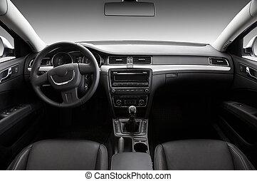 Prospekt, wewnętrzny, nowoczesny, samochód
