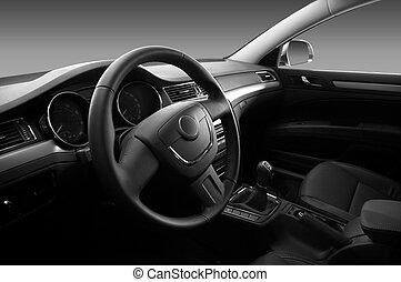 intérieur,  Automobile, moderne, vue