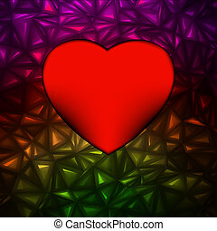 Heart bokeh frame with space. EPS 8