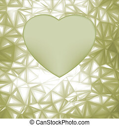 Elegant heart frame with space for concept. EPS 8