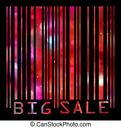 Big Sale bar codes all data is fictional. EPS 8