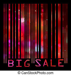 Colorful big sale bar code. EPS 8