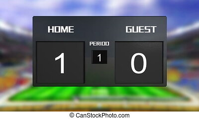 soccer match home win - soccer match scoreboard display the...