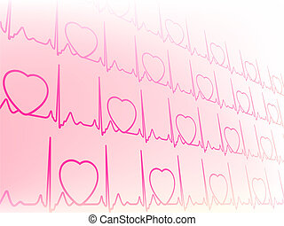 Abstract waveform from EKG test EPS8 - Abstract...