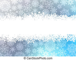 Snowflake christmas with white snow flake. EPS 8