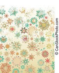 Vintage Christmas card. EPS 8 vector file included