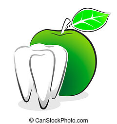 tooth as symbol for dentist or orthodontist