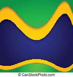 Vector Brazil flag concept colorful wave design illustration