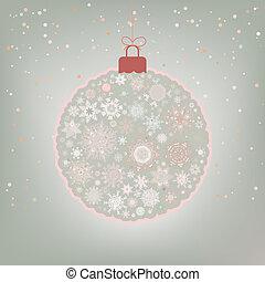 Beautiful Christmas ball card. EPS 8