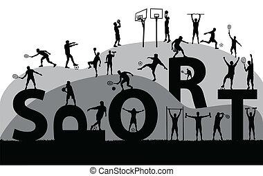 sport symbol vector illustration