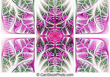 Fabulous fractal pattern. Collection - tree foliage....