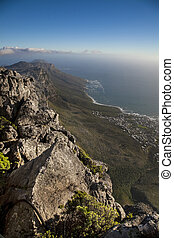 cape town coast - view of the coast of cape town