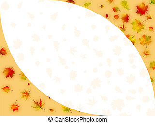 Colorful autumn leaves card. EPS 8