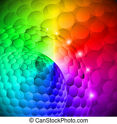 Varicolored - Seamless spotted multi-colored spherical...