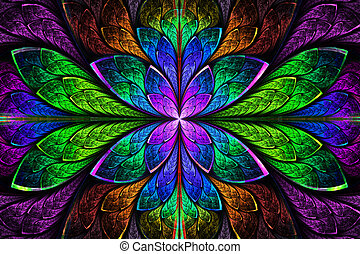 Multicolor beautiful fractal pattern Computer generated...