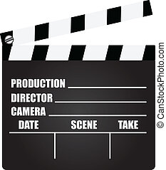 Clapperboard with an information field for shooting movies....