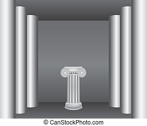 Pedestal - Classical ancient columns in the interior - a...