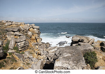 Ocean view in Peniche, Portugal - View to the Ocean in...