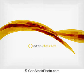 Colorful abstract flowing elegant lines