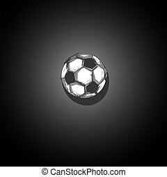 Football background with soccer ball