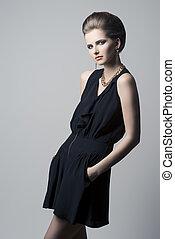 elegant, kvinna, mode