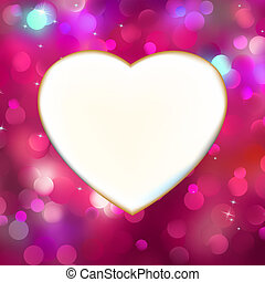 Abstract heart card in red. EPS 8