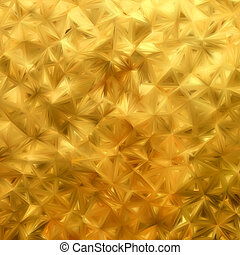 Glow gold mosaic background. EPS 8