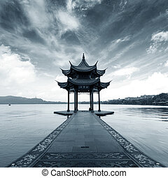 China Hangzhou West Lake Landscape - chinese ancient...
