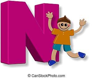Alphabet N Boy