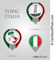 Topic ITALIA Map Marker