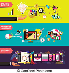flat design concepts for creative process