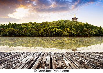 China Hangzhou West Lake - beautiful hangzhou west lake...