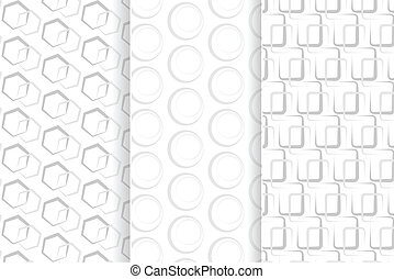 gray geometric seamless pattern with circle,rounded...