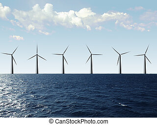 Wind farm - Windfarm at the sea