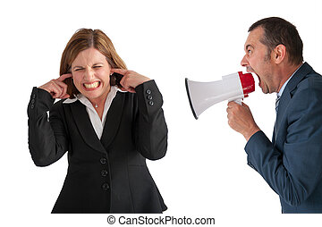woman being yelled at by manager - businesswoman being...