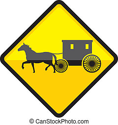 Amish Sign - amish illustration clip-art vector eps file